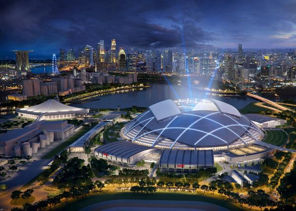 The complex is an integral part of the Singapore government's plans to strengthen the country's status as a destination for sport