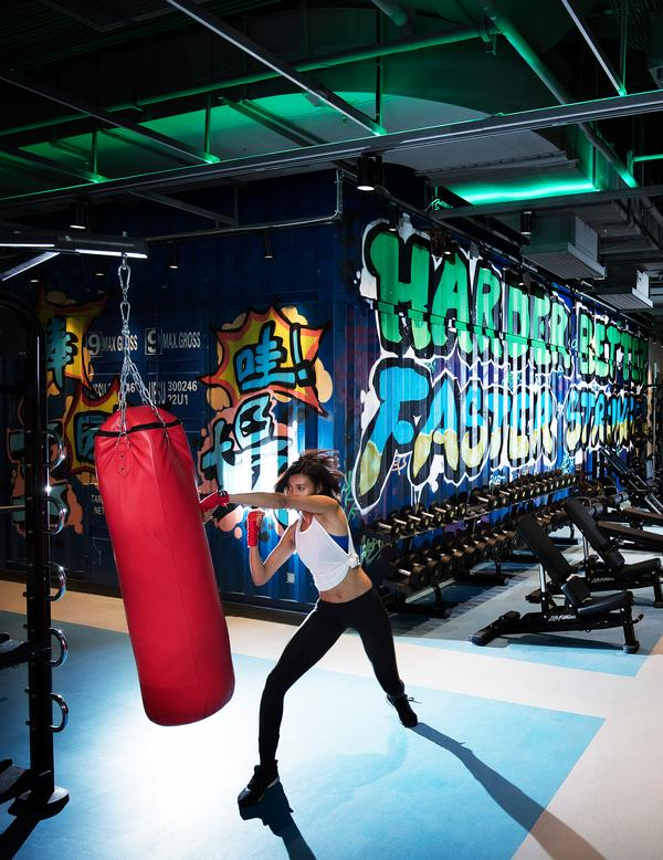 The Trainyard Gym consists of 3,500sq m of space set across two levels. It is open 24/7 / Hotel Jen Beijing