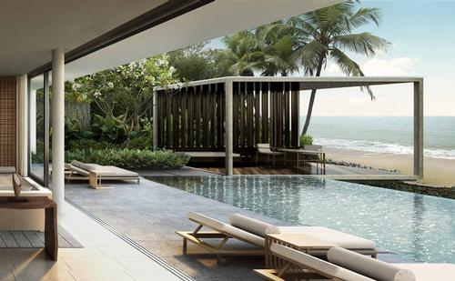 One- and two-bedroom villas each will have their own terrace, private pool and garden