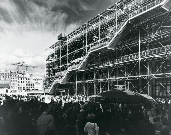 The Pompidou Centre opened on 31 January 1977