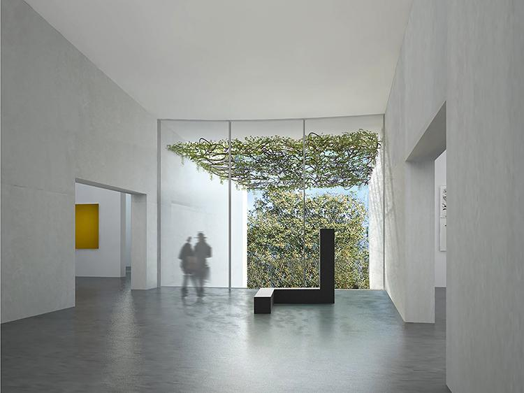 The undersides of the curved ceilings will become reflectors, illuminating the gallery spaces with light that is 'organic and flowing' / Steven Holl Architects