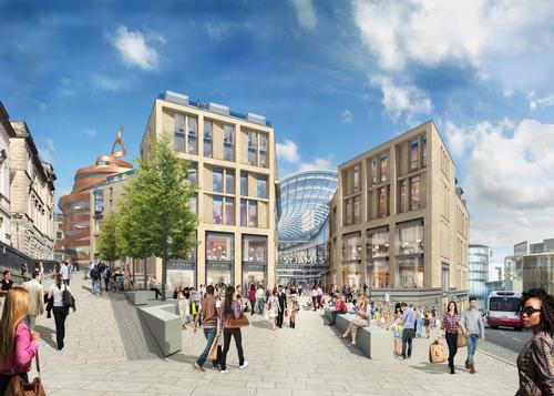 Allan Murray Architects and BDP created the masterplan for the scheme / Edinburgh St. James and Jestico + Whiles