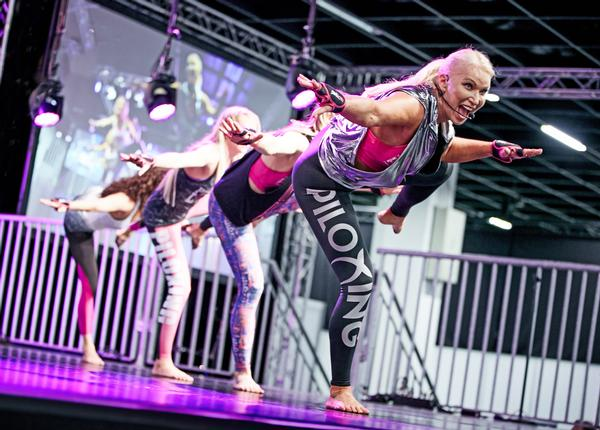 Two central stages will present the latest fitness class concepts