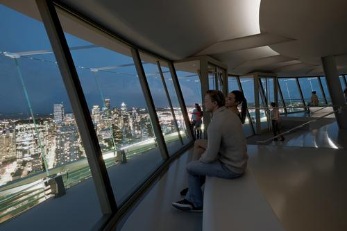 The renovated Observation Deck will include interior enhancements include new floor-to-ceiling glass walls, new doors and stairs