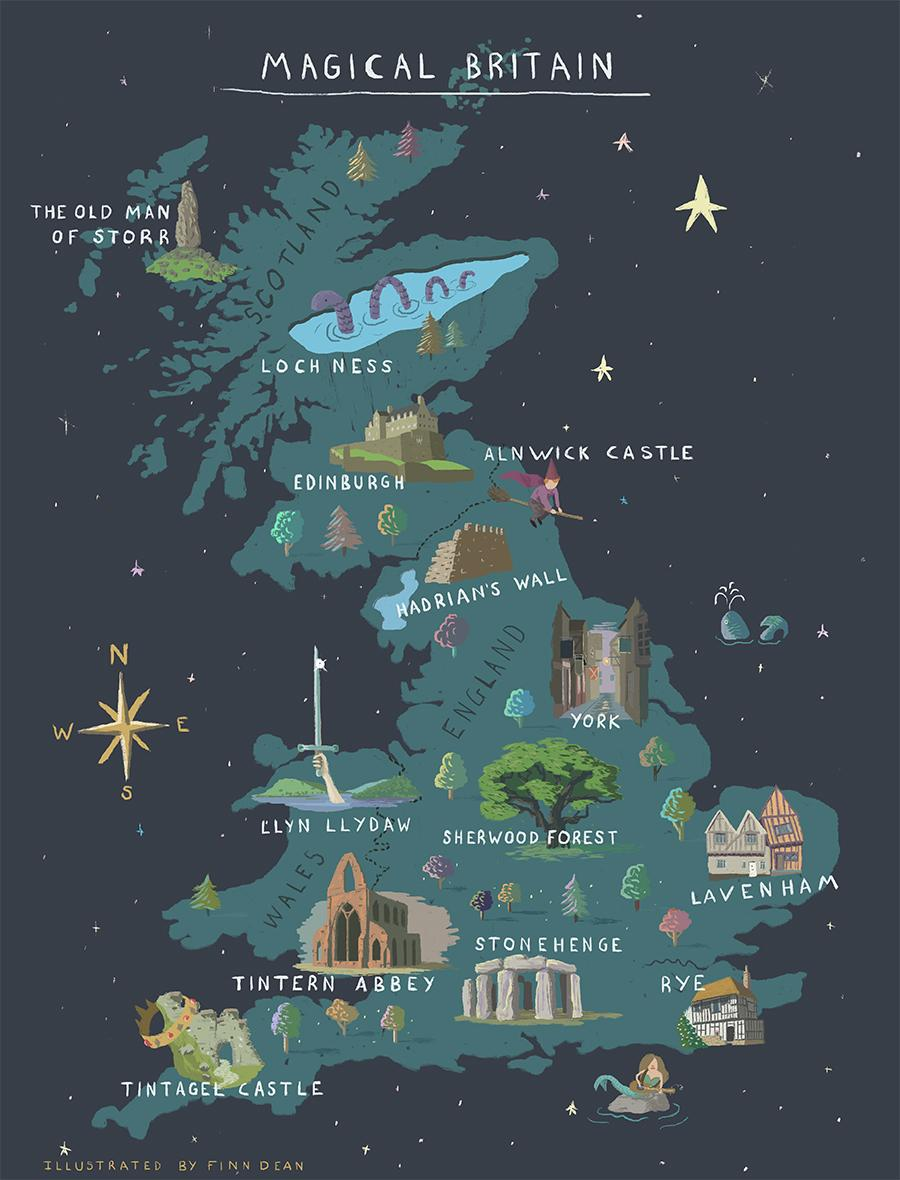The interactive map highlights locations of British literary legends / VisitBritain