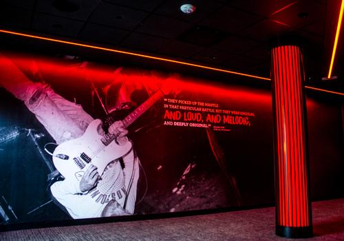 The experience was created by BRC, who are leading a multi-year transformation of the iconic attraction / Rock and Roll Hall of Fame