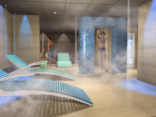 The proposed wet area of Mercer Hall Leisure Centre's new spa