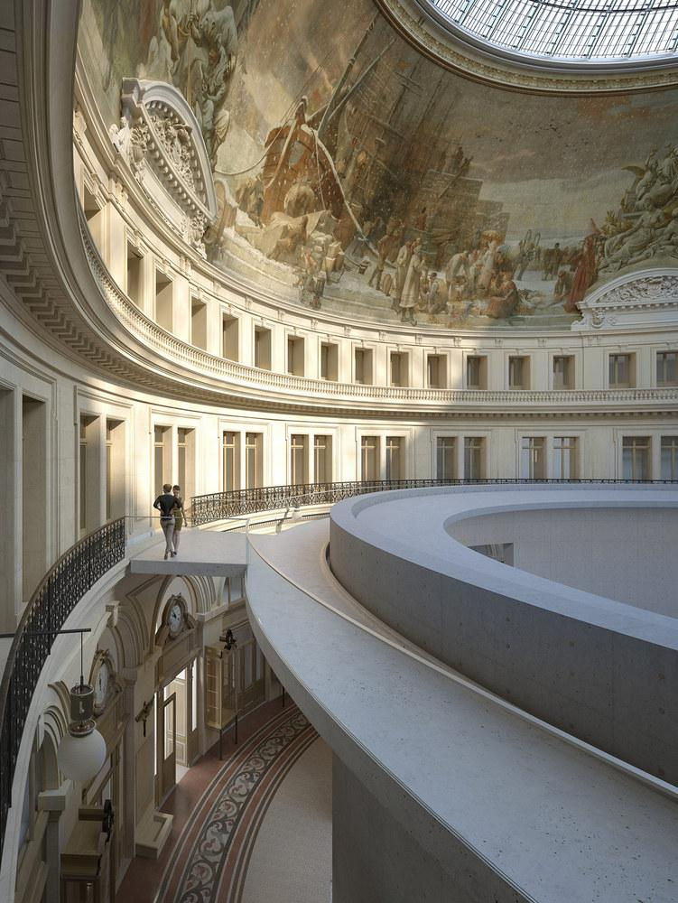 Ando plans to install a 9m high concrete cylinder in the centre of building / The Pinault Collection