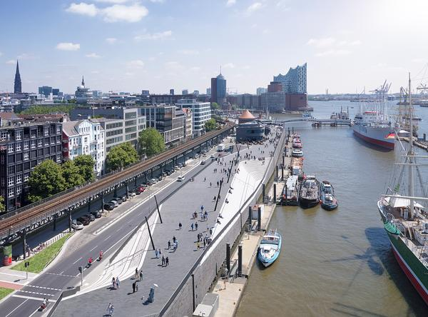 Zaha Hadid Architects' Hamburg River Promenade scheme / Photo: ©Piet Niemann