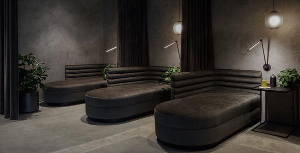 Members can simply relax in the private lounge