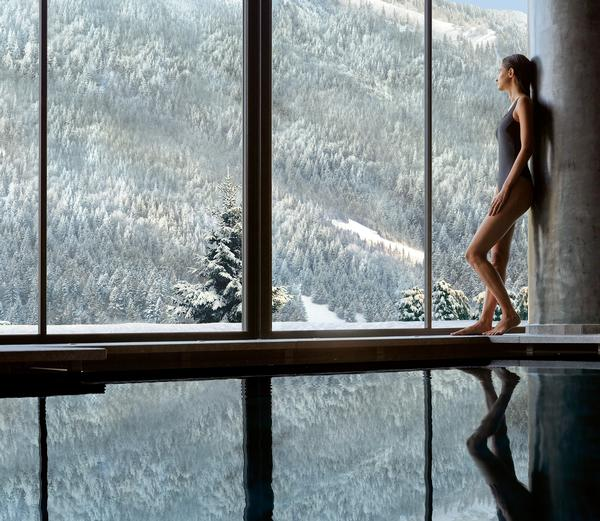 The spa has been designed to blend into the surroundings and reflect Lefay's philosophy of healing through nature
