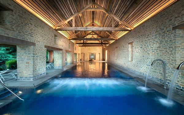 The spa features an indoor outdoor pool, steam room and sauna