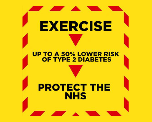 Studio manager highjacks government NHS posters to promote exercise – creates viral sensation