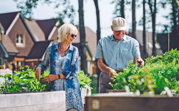 Residents are encouraged to grow their own food