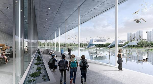 The Lingang Bird Airport scheme will see a wetland sanctuary and visitor centre created on reclaimed land