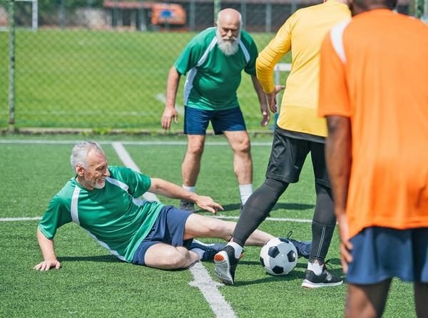 Men aged 65 to 80, who had played football regularly, had longer telomeres than their inactive counterparts