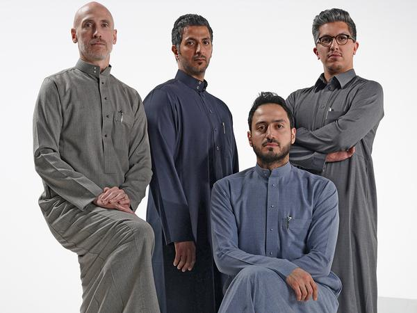 The Armah team: Fahad Alhagbani with (R-L) Abdulmalik Alhagbani, Sulaiman Alkadi and Nathan Clute