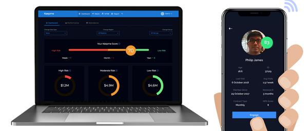 Mullane has developed Keepme around an intuitive dashboard and an app gives operators insight into on-site details of members