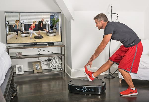 Through its app and series of live workouts, Power Plate has quickly shifted the business to focus on members exercising at home