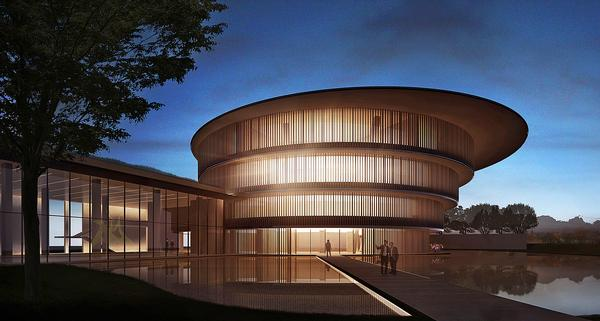 The circular shape was inspired by ancient Chinese philosophy that the sky is round