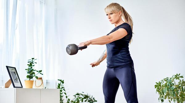 Kettlebell and dumbbell workouts have seen the highest percentage of returning users / Baranq/shutterstock