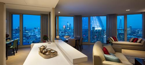 The tower's two- and three-bedroom will offer views of the Thames, as well as some of London's nearby landmarks