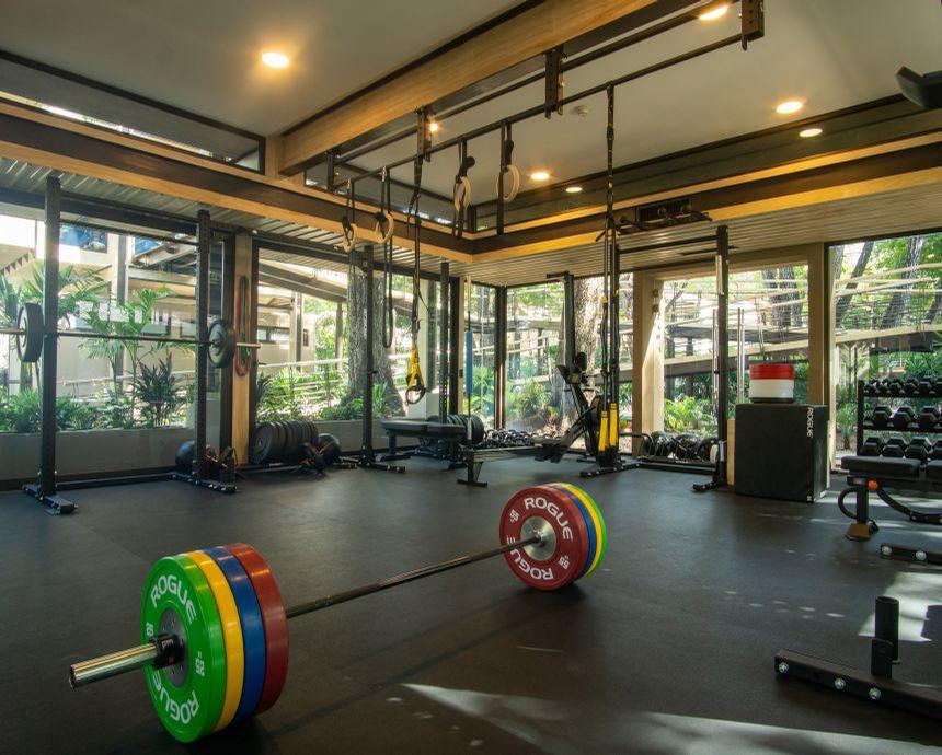 The centre's gym features fitness equipment, training facilities and an ice tub for recovery