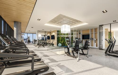 There will b a fitness centre with views of the surrounding area / Humaniti