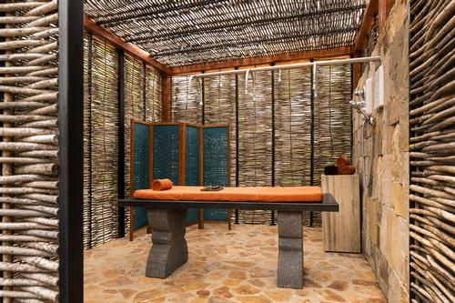 Alkemia al Fresco is a private garden used for outdoor body scrubs