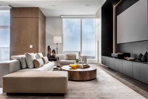 The suite's interiors are described as