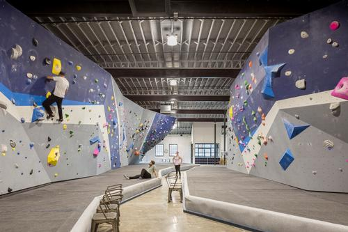 The gym has 10,000 sq ft (930sq m) of climbing surfaces / Bob Greenspan Photography