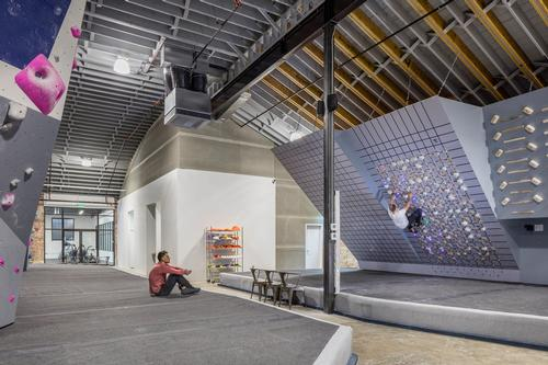 There is a barrel roof under which bouldering walls can rise / Bob Greenspan Photography