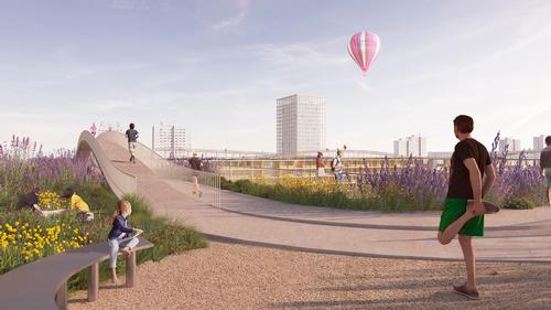 There will also be community gardens, playgrounds and meeting spaces for senior citizens / David Chipperfield Architects