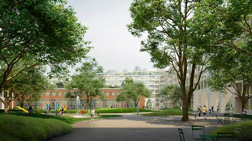The structure will divide the site into a series of smaller spaces and communities / David Chipperfield Architects