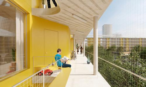 The new neighbourhood will accommodate 1,400 affordable rental apartments / David Chipperfield Architects