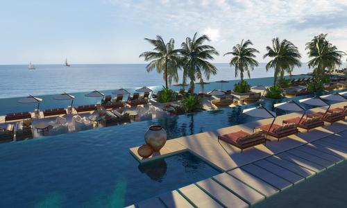 The resort will feature four large communal pools and an activity spa