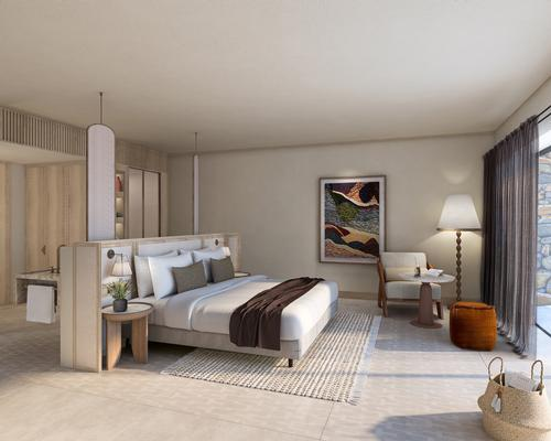 Accommodations range from 35sq m (377sq ft) rooms to 200sq m (2,150sq ft) villas