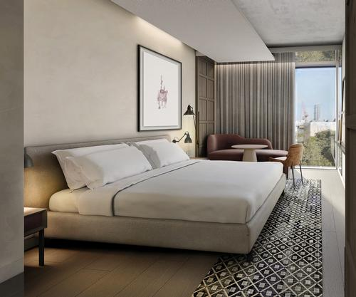 The 16 storey hotel will cover 32,000sq m and feature an urban spa, 350 guest rooms including 35 suites and a tower penthouse, each with city views,