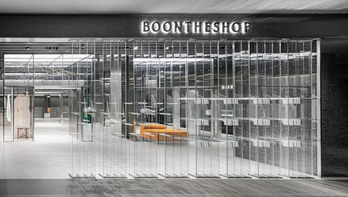 A transparent façade allows views into the store