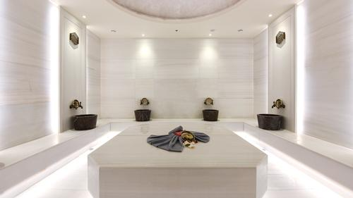A highlight of the spa is a bathhouse experience which includes both mixed and female hammams