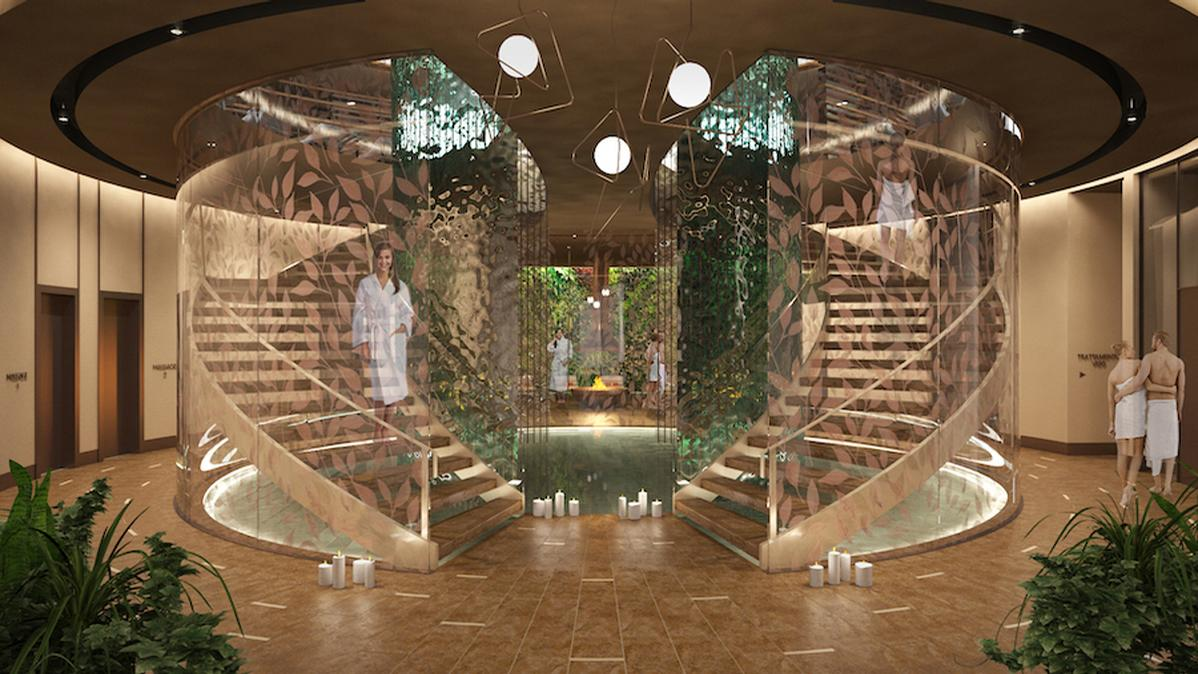 Studio Apostoli has also been commissioned by Cipriani to create a 3,500sq m wellness centre for Cipriani Ocean resort, Club Residence and Casino in Uruguay