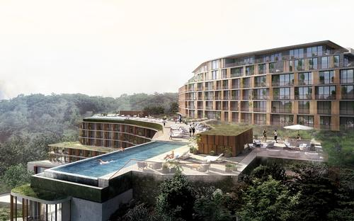 The resort will include a 210-room hotel