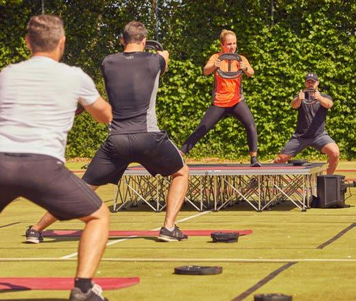 Les Mills Bodypump workouts are being offered outdoors / David Lloyd Leisure