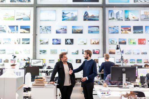 Jan Christian Vestre, CEO of Vestre with Bjarke Ingels at BIG / Vestre/Bjarke Ingles Group