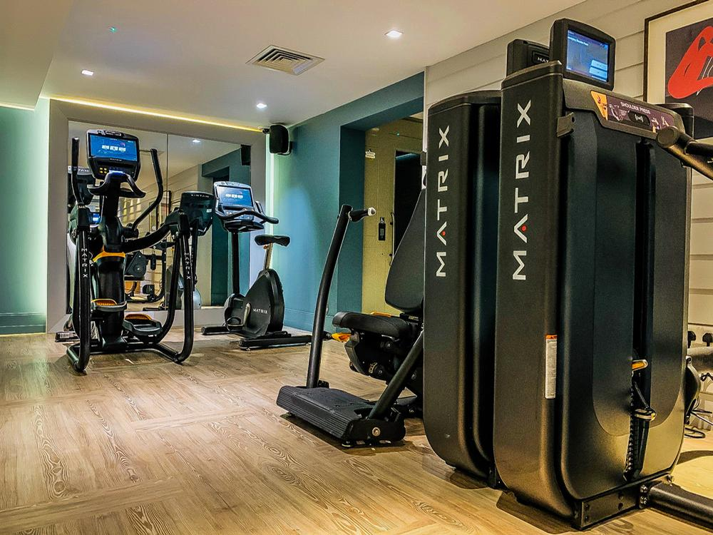 The two fitness suites at Dormy House now incorporate fully connected gym equipment from Matrix Fitness