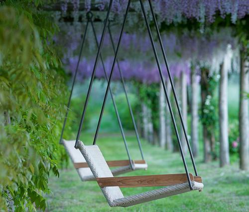 Matteo Thun grows Allaperto collection with new suspended outdoor armchair