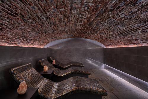 The spa is home to a salt cave and three saunas, among other wet and thermal experiences / Buxton Crescent Hotel