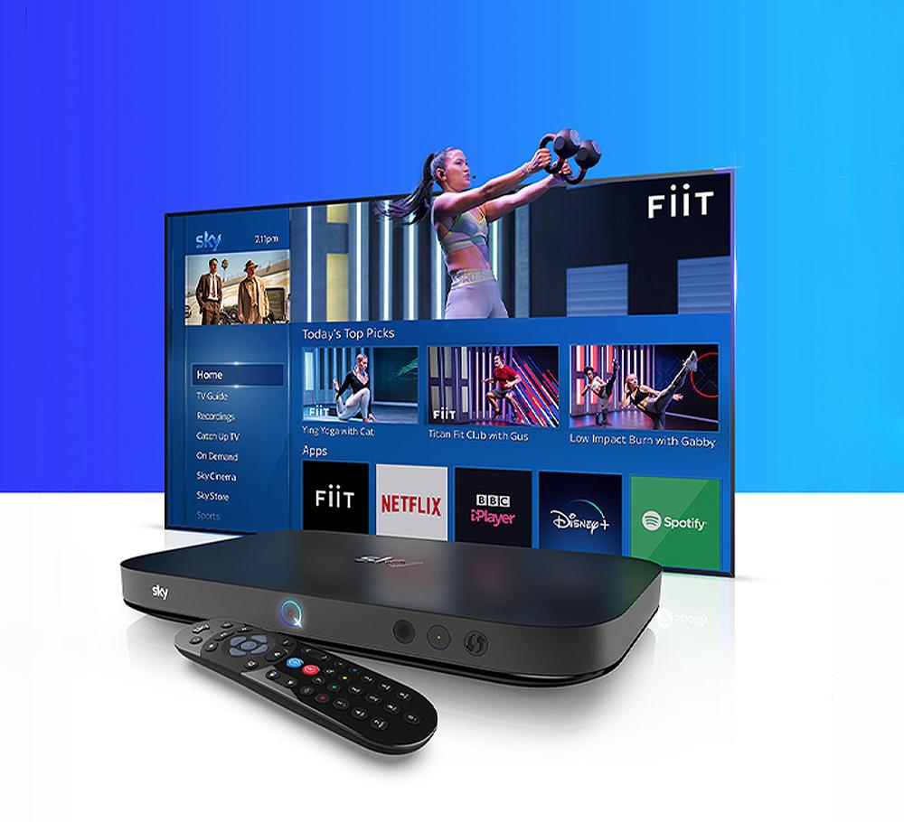 The move will see Sky Q become the first UK TV platform to offer an integrated fitness app / Fiit/Sky Q