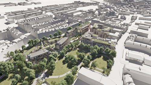 The development will replace a former RBS office with a new integrated development that respects its location bordering the World Heritage Area / 10 Design