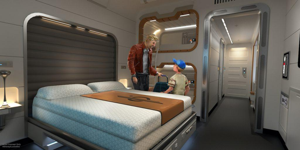 Guests will sleep in ship-like cabins, experience onboard dining and interact with role-playing cast and crew members / Disney/Lucasfilm